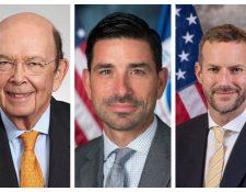 Wilbur Ross, Chad F. Wolf y Adam S. Boehler son los funcionarios que acompañarán al embajador estadounidense Luis Arreaga a la toma de posesión de Alejandro Giammattei. (Foto Prensa Libre: Twitter)