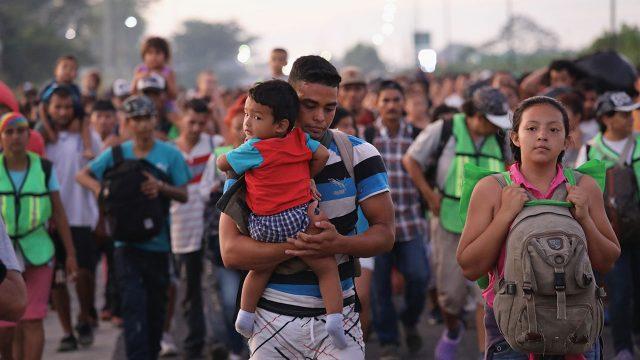 Caravana de Migrantes en su paso por Ciudad Hidalgo, México. Foto: John Moore/Getty Images 2018 10 21