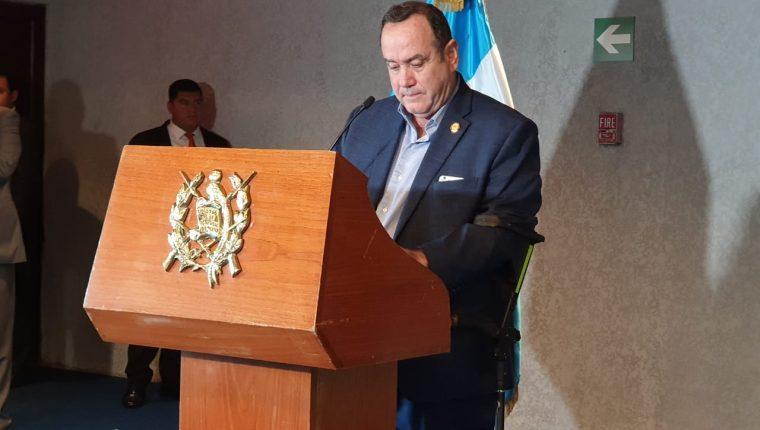 El presidente electo Alejandro Giammattei. (Foto Prensa Libre: Dadiana Cabrera)