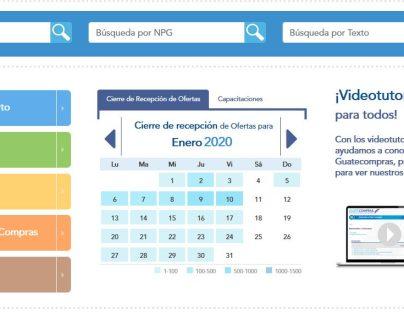 En la página de Guatecompras están registrados los contratos abiertos que vencerán pronto. (Foto Prensa Libre: Captura de pantalla)