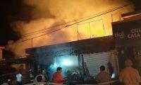 Incendio Santa Catarina San Marcos, 31 de diciembre del 2019. Pirotecnia. Alexander Coyoy.