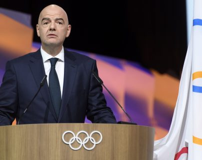 Gianni Infantino, presidente de la FIFA y ahora miembo del COI. (Foto Prensa Libre: EFE)
