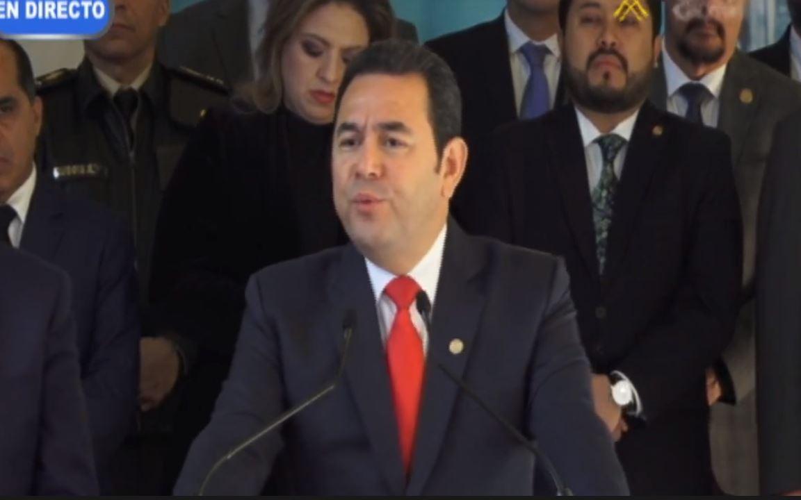 A estos temas se refirió el mandatario Jimmy Morales a horas de dejar la Presidencia
