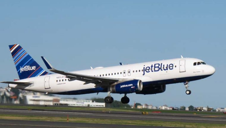 La aerolínea estadounidense JetBlue operará en Guatemala. (Foto Prensa Libre: JetBlue)