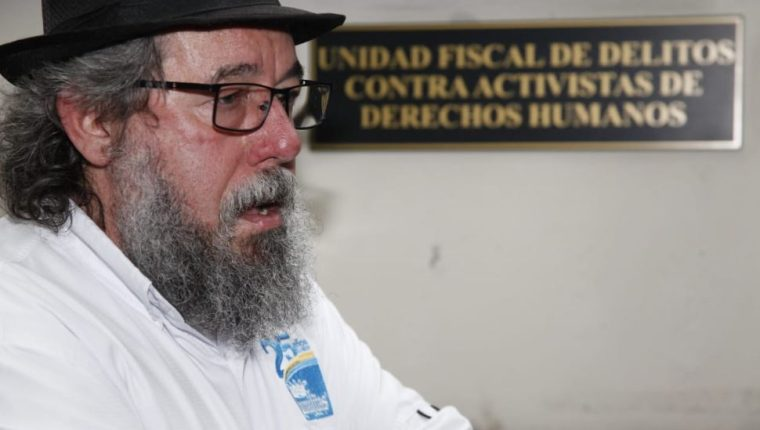 Mauro Verzeletti, director de la Casa del Migrante, denuncia amenzas. (Foto Prensa Libre: Noé Medina)