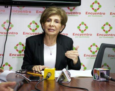 La diputada Nineth Montenegro del partido Encuentro por Guatemala no logró su reelección. (Foto Prensa Libre: Hemeroteca PL)