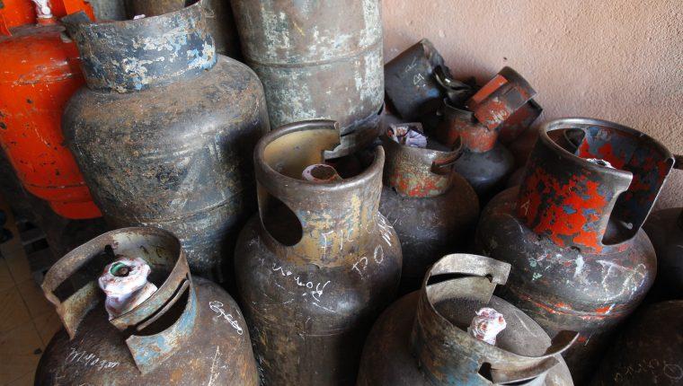 El precio sugerido del MEM para un cilindro de propano de 25 libras es de Q100. (Foto Prensa Libre: Hemeroteca)