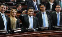 La sesi—n en el Congreso de la Repœblica elegi— y juramenta a la nueva Junta Directiva, la cual  se traslada al Teatro Nacional Miguel Angel Asturias.   Fotograf'a Erick Avila:               14/01/2020