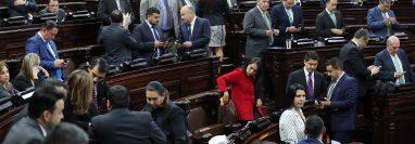 En la sesión plenaria del Congreso se nombraron a los presidentes de las salas legislativas de trabajo. (Foto Prensa Libre: Hemeroteca PL)