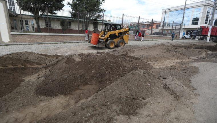Cuando la empresa H3 Guatemala ejecutó la obra, los vecinos señalaron varias irregularidades. (Foto Prensa Libre: María Longo)
