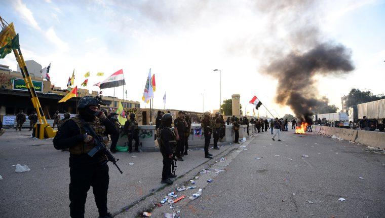 Los comandantes murieron en un bombardeo en Bagdad, Irak. (Foto Prensa Libre: EFE)