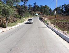 Proyecto carretero comunica Patzité con la cabecera departamental de Quiché. (Foto Prensa Libre: Héctor Cordero)