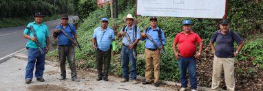 Once años tiene la junta de seguridad de San Pablo Jocopilas, Suchitepéquez, de patrullar el municipio. (Foto Prensa Libre: Marvin Túnchez)