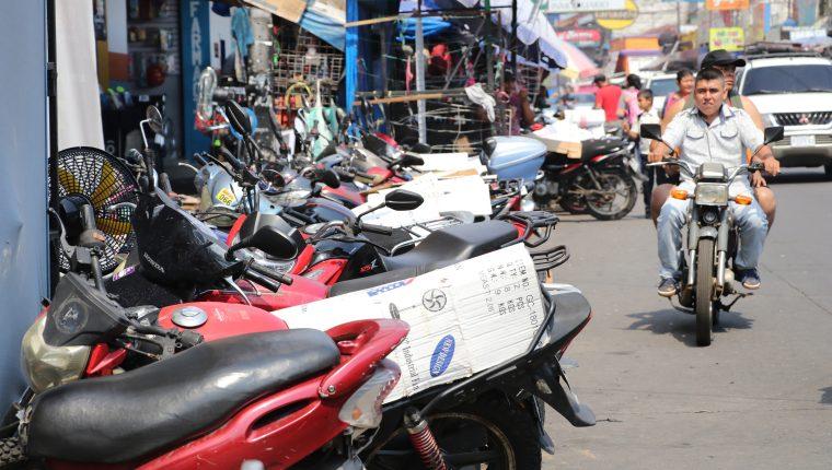 El año pasado fueron robadas en Escuintla 508 motocicletas, 98 menos con relación al 2018. (Foto Prensa Libre: Carlos Paredes)