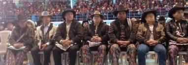 Los integrantes de la Alcaldía Indígena de Sololá durante en el cargo dos años. (Foto Prensa Libre: Noticias Sololá)