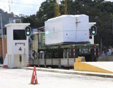 El módulo para el sistema de inspección no intrusiva a los contenedores para la importación y exportación en la Empornac empezará a funcionar en septiembre, y no operó en nueve meses. (Foto Prensa Libre: Hemeroteca)