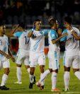 Seleccionados de Guatemala durante el juego ante Puerto Rico en noviembre de 2019. (Foto Prensa Libre: EFE).