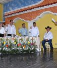Arnoldo Vargas participó en la toma de posesión de la nueva corporación municipal de Zacapa. (Foto Prensa Libre: Wilder López)