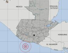 El temblor del viernes 10 de enero fue sensible en el suroccidente del país. Foto Prensa Libre: Insivumeh)