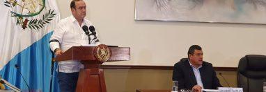 El presidente Alejandro  Giammattei se reunió con los Jefes de Bloques el pasado domingo para discutir agenda legislativa. (Foto Prensa Libre)