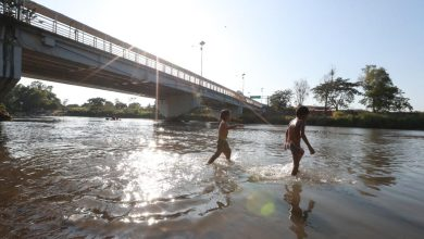 Fotogalería: Migrantes hondureños quedan varados en el río Suchiate