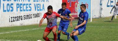 El Deportivo Iztapa logró un triunfo importante frente a Malacateco. (Foto Prensa Libre: Carlos Paredes)