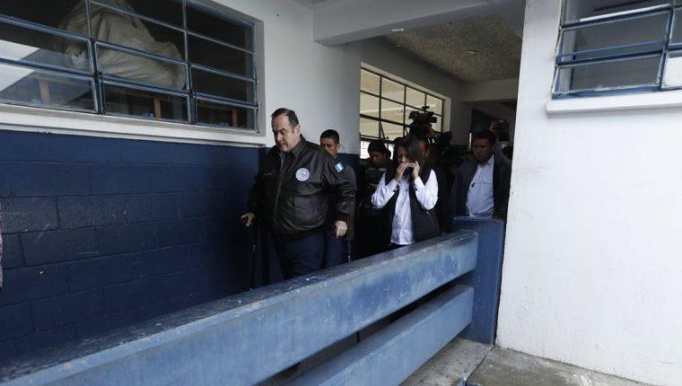 El presidente Alejandro Giammattei habló sobre anomalías en la administración anterior. (Foto Prensa Libre: Esbin García)