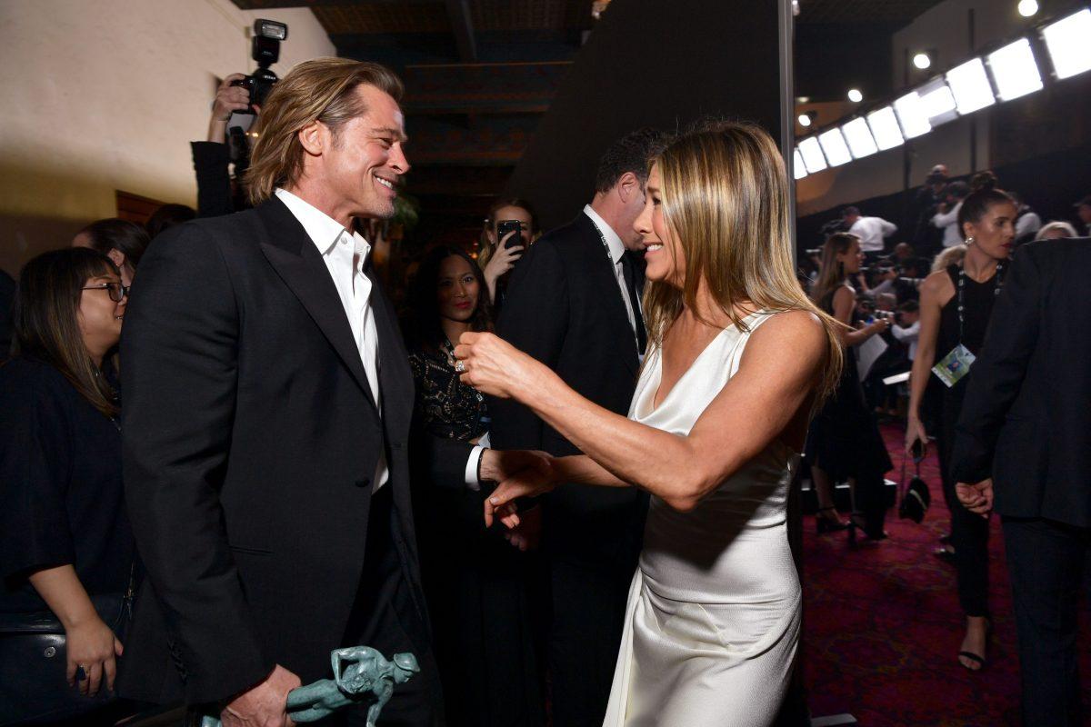 Así fue el reencuentro entre Brad Pitt y Jennifer Aniston que se llevó el protagonismo en los premios SAG