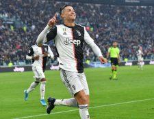 """Ronaldo marca un """"hat-trick"""" con la Juventus. (Foto Prensa Libre: EFE)"""