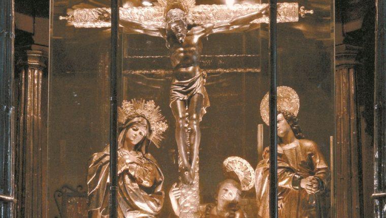 Quirio Cataño creó la emblemática figura del Cristo Negro de Esquipulas, en Chiquimula, Guatemala. (Foto: Hemeroteca PL)