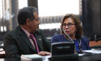Sandra Torres se presenta al Juzgado de Mayor Riego A. (Foto Prensa Libre: Miriam Figueroa)