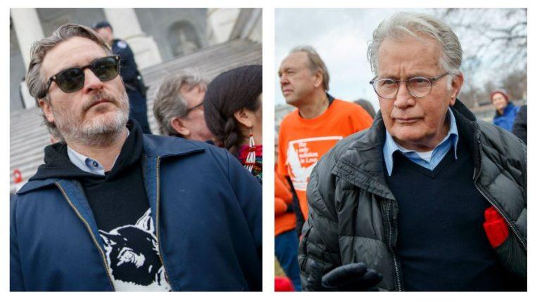 Joaquin Phoenix y Martin Sheen fueron arrestados en EE. UU.. (Foto Prensa Libre: EFE)