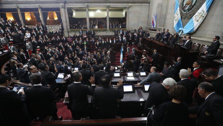 La novena legislatura fue instalada con 160 diputados. (Foto Prensa Libre: Érick Ávila)