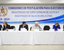 La Comisión de Postulación de CSJ suspendió la sesión por falta de acuerdos. (Foto Prensa Libre: Carlos Hernández Ovalle)