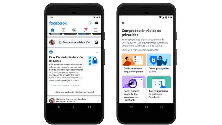 Facebook agrega más control sobre la privacidad. (Foto Prensa Libre: Facebook)