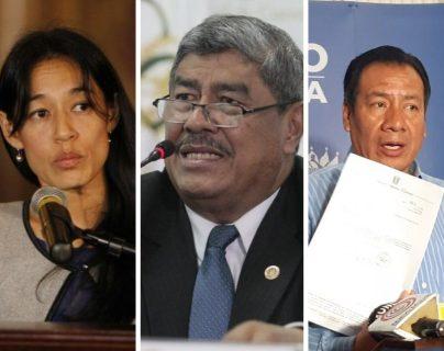 Lucrecia Hernández Mack, Carlos Mencos y Diego González, diputados electos. (Foto Prensa Libre: Hemeroteca PL)