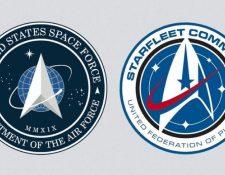 """Nuevo logo de la Fuerza Espacial de EE. UU. es similar al del Comando Starfleet de la serie """"Star Trek"""", según fanes."""