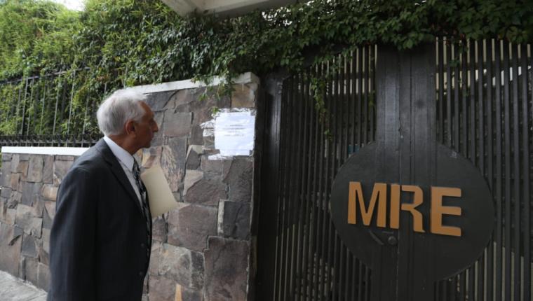 Fachada del Ministerio de Relaciones Exteriores (Foto Prensa Libre: Hemeroteca PL)
