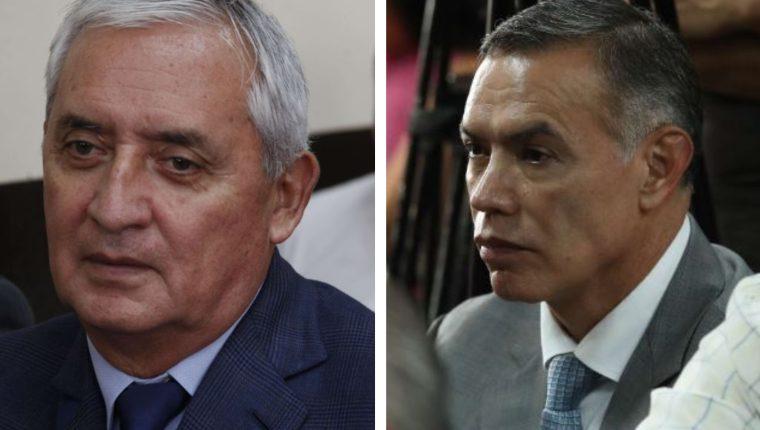 Otto Pérez Molina y Juan de Dios Rodríguez. (Foto Prensa Libre: Hemeroteca PL)