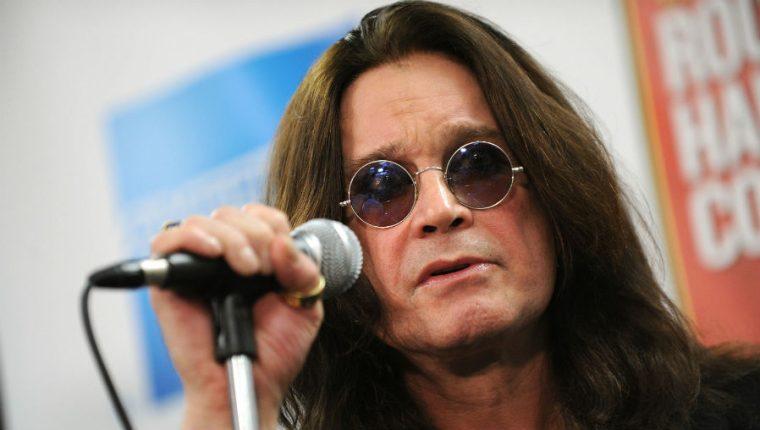 Ozzy Osbourne, exvocalista de la banda Black Sabbath,  fue diagnosticado con Parkinson en febrero de 2019. (Foto Prensa Libre: AFP)