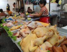 El precio que subió esta semana en el país es el del pollo importado. (Foto, Prensa Libre: Hemeroteca PL).