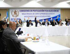 Comisionados para integrar nómina de candidatos a la CSJ aprueban la tabla de gradación. (Foto Prensa Libre: Hemreoteca PL)