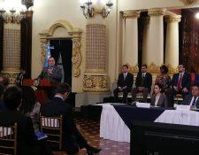El presidente Alejandro Giammattei presentó los planes de gobierno. (Foto Prensa Libre: Andrea Orozco)