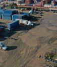 El patio 14 que también es conocido como El Arenal en la Empornac sería el lugar donde se cedería para la construcción de una nueva terminal. (Foto Prensa Libre: Dony Stewart)