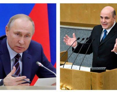 Vladímir Putin nombró a Mijaíl Mishustin como nuevo primer ministro. (Foto Prensa Libre: EFE)