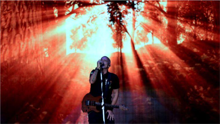 Eros Ramazzotti cantó para los guatemaltecos en Cardales de Cayalá. (Foto Prensa Libre: Keneth Cruz)
