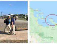 Rescatan a 15 personas que permanecían retenidas por una secta religiosa en Panamá.  (Foto Prensa Libre: Tomada de twitter.com/MinSegPma)