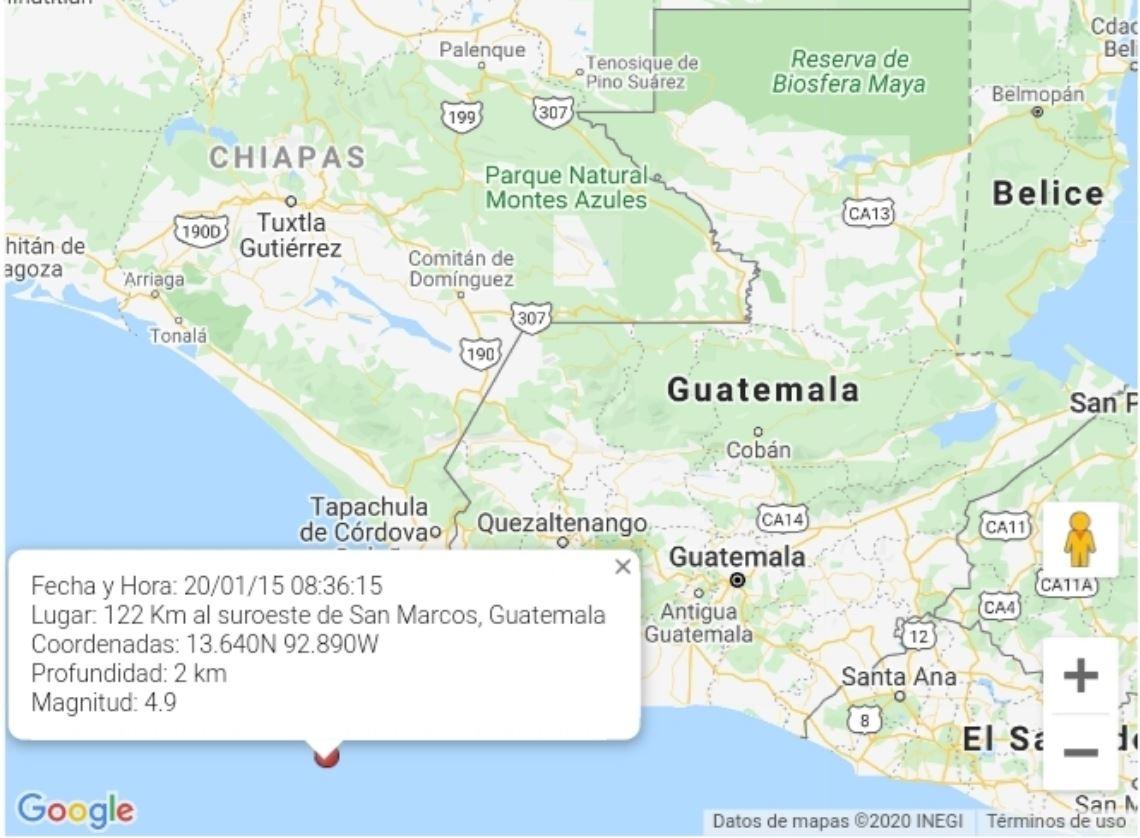 Temblor de hoy 15 de enero: Movimiento es sensible en San Marcos