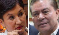 Thelma Aldana, exfiscal general y excandidata presidencial proclamada, y Mario Estrada, excandidato presidencial procesado por trasiego de drogas. (Foto Prensa Libre: Hemeroteca PL)