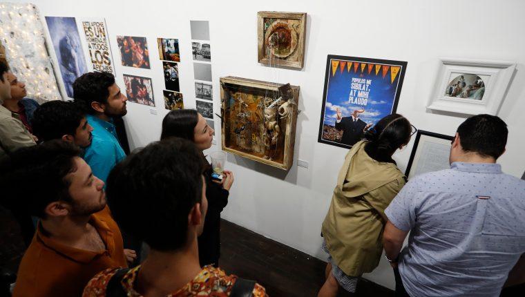 Se inaugura la exposición DIEZCIEN en Alianza Francesa Guatemala. (Foto Prensa Libre: Esbin García).